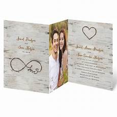 Folded Photo Wedding Invitations Love For Infinity Zfold Invitation Invitations By Dawn