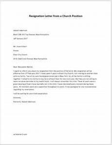 Resignation Letter Church Position Resignation Letter From A Church Position Writeletter2 Com