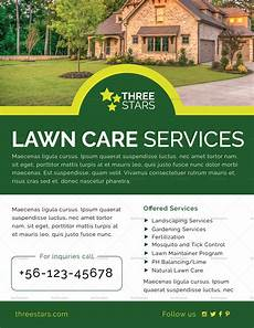Lawn Mower Flyers Lawn Care Flyer Design Template In Psd Word Publisher