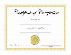 Generic Certificate Of Completion Free Printable Certificate Of Achievement Template