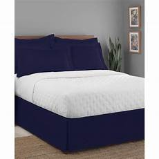 luxury hotel classic tailored 14 quot drop navy bed skirt bed