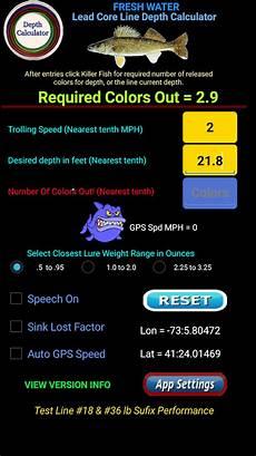 Trolling Line Depth Chart Lead Core Line Precision Trolling Depth Calculator