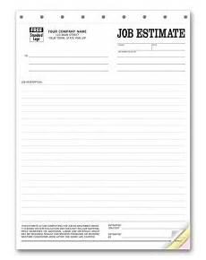Job Estimates Estimate Forms Customized Estimate Forms General