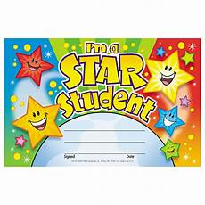 Student Certificates Free Star Student Certificate 30 Pack Trend T81019