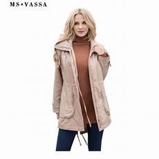 autumn coats for waist ms vassa autumn trench coats 2018 new fashion