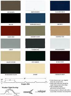 Ab Martin Color Chart Roofing Color Options