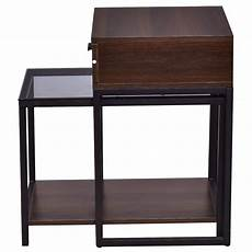 tangkula nesting table set of 2 home glass top metal frame
