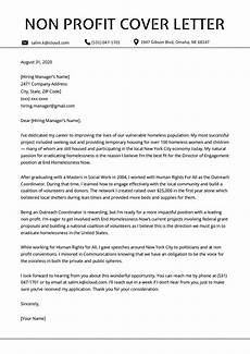 Nonprofit Cover Letter Non Profit Cover Letter Sample Template Amp Writing Tips