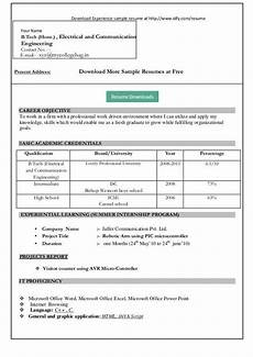 Resumes Download Ms Word Format Resume Format Download In Ms Word Free Cv Template For