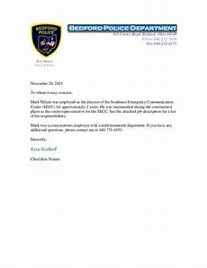 Letter Of Recommendation For Police Officer Mark Milam Reference Letter From Bedford Police Chief Kris