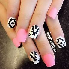 Black White And Pink Nail Designs 50 Beautiful Pink And Black Nail Designs 2017