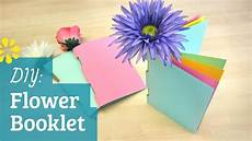 How To Make A Booklet Diy Flower Booklet Sea Lemon Youtube