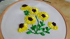 embroidery sunflower embroidery