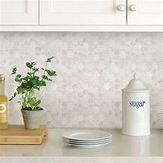 peel and stick kitchen backsplash nh2359 hexagon marble peel and stick backsplash tiles