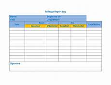 Mileage And Expense Log Mileage Log Templates 19 Free Printable Word Excel