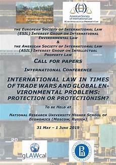 Call For Papers International Law In Times Of Trade Wars