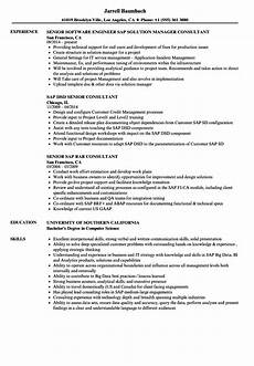 Sap Consultant Resume Resume Samples For Sap Consultant Sap Consultant Sample