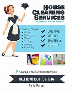 Cleaning Services Advertising Copy Of House Cleaning Services Flyer Poster Postermywall