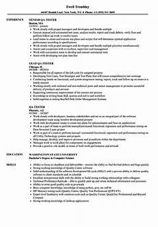 Sample Resume Qa Tester Qa Tester Resume Samples Velvet Jobs