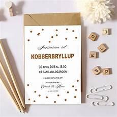 skabeloner til bryllupsinvitationer personligg 248 r dit kobberbryllup med en flot invitation fra