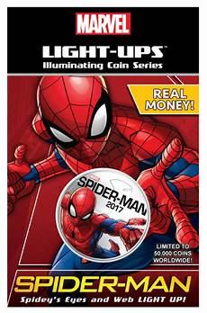 Spidey Light Marvel 2017 Spider Man Light Up Silver Clad Coin