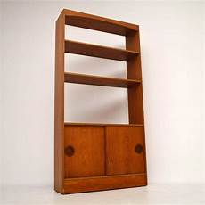 retro teak bookcase cabinet vintage 1960 s