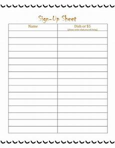 Free Template For Sign Up Sheet Printable Sign Up List Learning Printable
