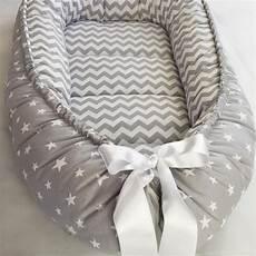 handmade sided gray organic baby nest bed baby