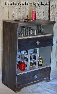 macgirlver liquor cabinet made out of an dresser