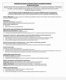 Pediatric Nursing Resume Free 8 Sample Student Nurse Resume Templates In Ms Word Pdf