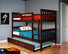 bunk bed w trundle or tent cappuccino ebay