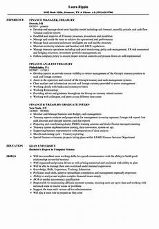 Treasury Resume Finance Treasury Resume Samples Velvet Jobs