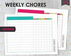 Free Editable Chore Chart Template Kids Chore Chart Printable Kids Chore Chart System Printable