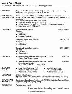 Ms Word Resume Template 2007 Free Resume Template For Microsoft Word