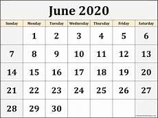 Free Calendars 2020 Printable June 2020 Calendar Free Printable Monthly Calendars