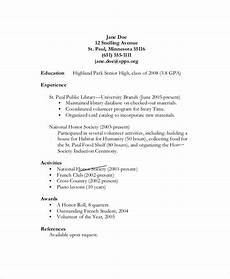 Resume Objective For High School Student Free 6 Sample Resume Objective Templates In Pdf
