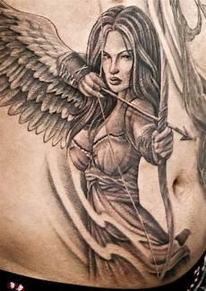 Female Angel Designs Front Angel Warrior Chronic Ink