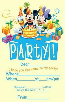 Disney Birthday Invitations Disney Coloring Pages
