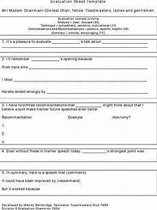 Toastmasters Evaluation Form Toastmaster Evaluation Template Download Free Amp Premium