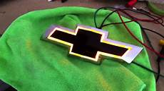 Lighted Chevy Bowtie Grille Emblem Front Lighted Bowtie Yellow Lights Mov Youtube