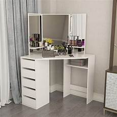 saturday hironpal white corner curved dressing table