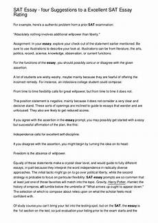 Essay Examples For Sat Sat Essay Four Suggestions To A Excellent Sat Essay Rating