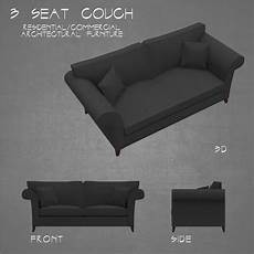 Sofa Seat Mat 3d Image by Sofa 3 Seat Architectural 3d Asset
