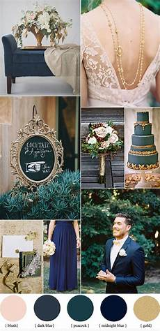 dark blue and gold wedding theme blue wedding colors