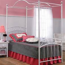 White Bed Canopy Shop Hillsdale Furniture Emily White Canopy Bed At