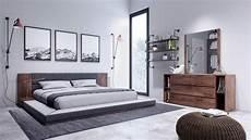 Asian Bedroom Furniture Jagger Japanese King Bedroom Set 3 Built In Nightstands