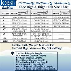 Jobst Compression Measuring Chart Jobst For Men Compression Thigh High 30 40mmhg