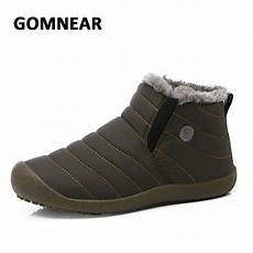 outdoor hiking shoes for comfortable gomnear new winter cotton waterproof shoes add fur high