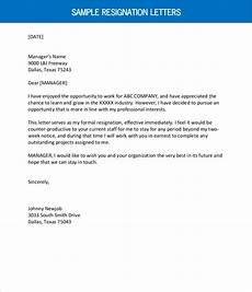 Resignation Letter Simple Sample Resignation Letter Outline1