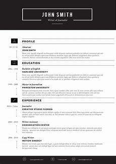 eresume template sleek resume template cover letter references